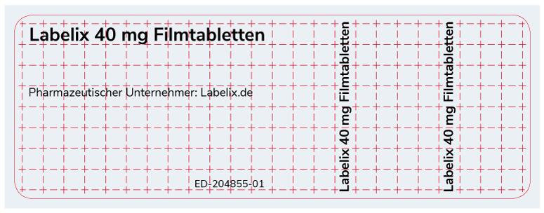 Blister-Etiketten