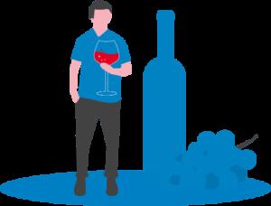 Wein und Spirituosen Branchen Etikett